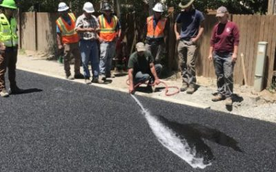 First Porous Asphalt Street at a High Elevation in Colorado!